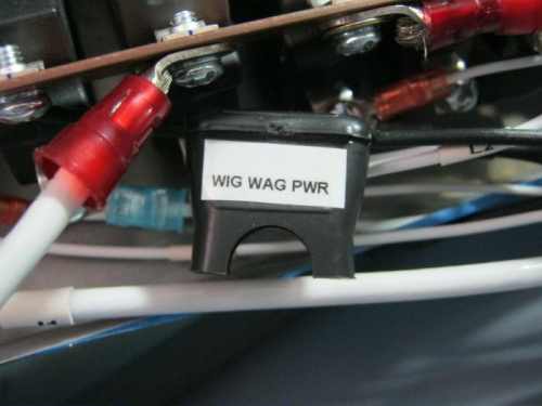 10 AMP IN-LINE FUSE UNDER SWITCH CONSOLE FOR WIGWAG POWER