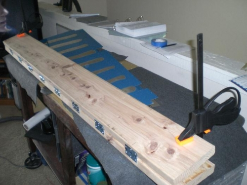 Using the clamps to get that fold just right.