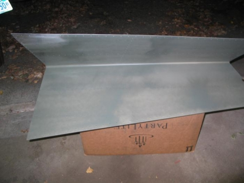 Primed horizontal stabilizer skin