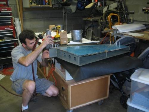 Riveting Vertical Stabilizer