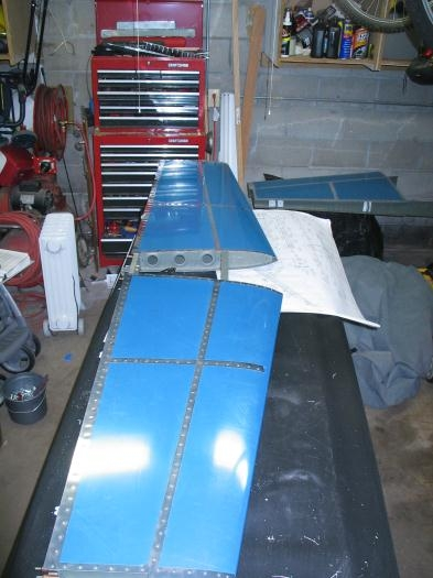 Finished riveting the horizontal stabilizer