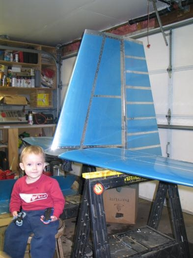 Grayson with the tail assembly