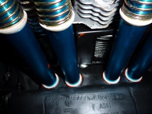 Crankcase view of new tubes