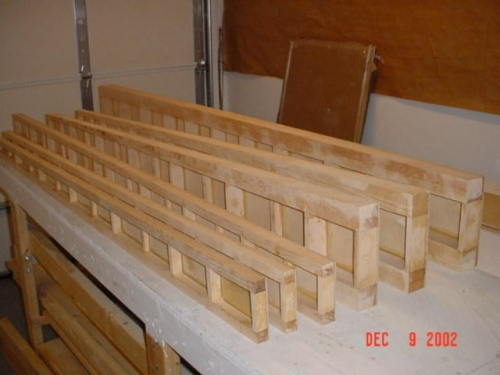 Spars with plywood on one side of spar caps