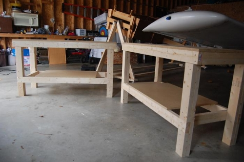 Two Construction Tables 2'x5'