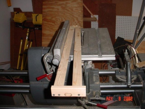 Taper jig on Shop Smith