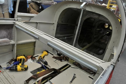 Manual Flaps, Trim, and Seats Removed