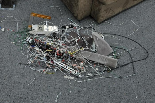 Pile of Parts & Wiring Removed