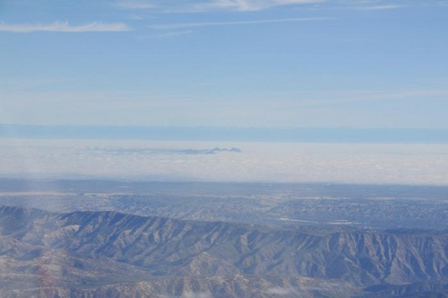 Enroute To Albany - Sutter Buttes In The Distant Fog