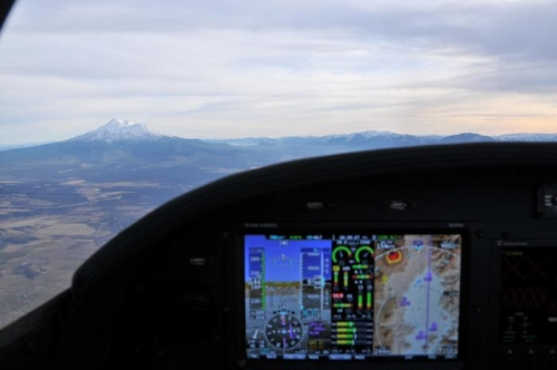 Enroute To Livermore - Dynon Skyview (Shasta In Foreground)