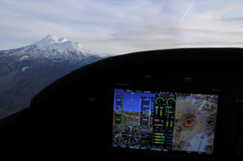 Enroute To Livermore - Dynon Skyview (Shasta In Focus)