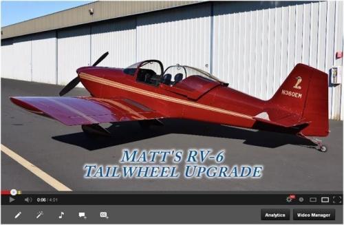 RV-6 Tail Wheel Upgrade