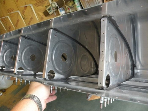 All five interior ribs sealed and 100% clecoed.