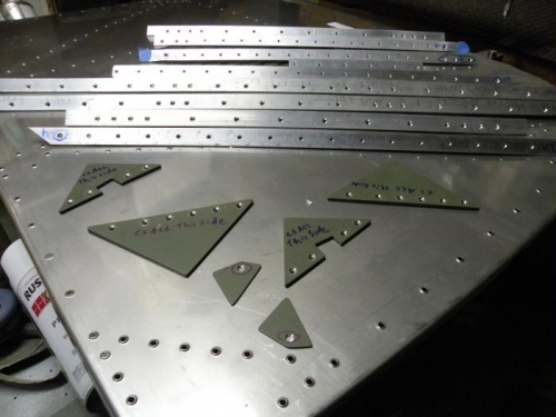 Firewall dimpled, and stiffeners and spacers countersunk.