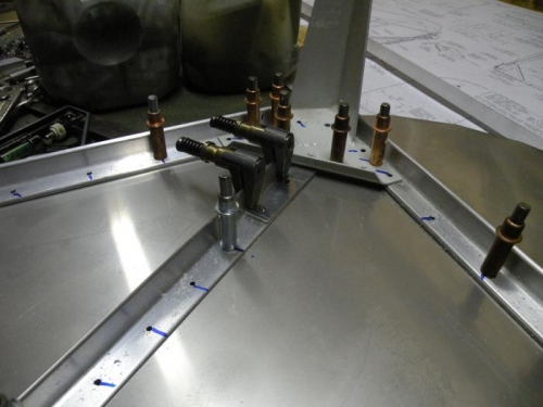 Left F-601P drilled into place.