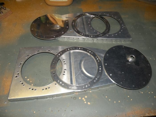 Inboard end rib access plate modificatons complete for both tanks.