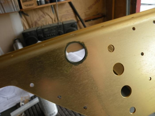 I primed the edges of the snap bushing holes.