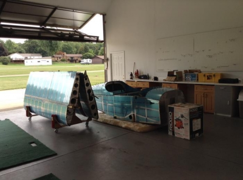 Wings and Fuselage.  The vaccum box has all the loose parts.
