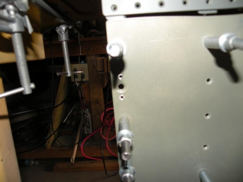 Countersinking the wing walk doubler for  NAS1097-3 rivets.