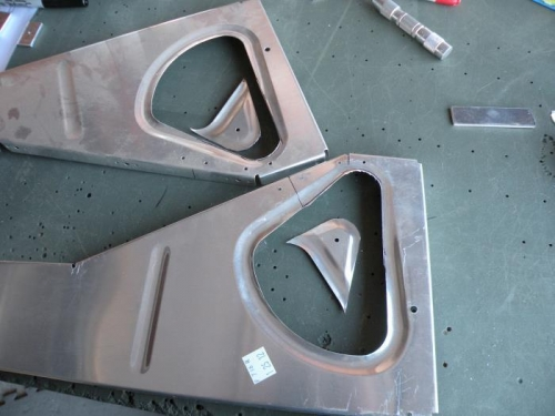 Modifying two of the inboard seat ribs.