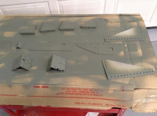 Small parts prepped and primed.