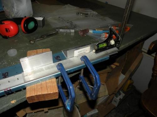 Aligning the left spar bar doubler to the rear  spar bar.