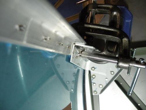 Fit of the upper left engine mount bracket.