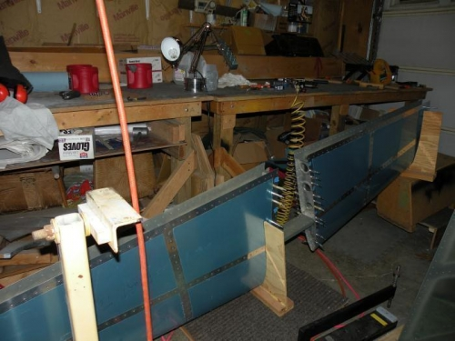 It's a bit easier to reposition for riveting various sections with the stab in fixtures on the floor.