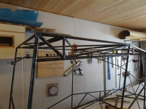 Overhead door structure