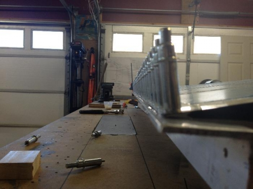 Angle aluminum clamped on...Looks pretty straight