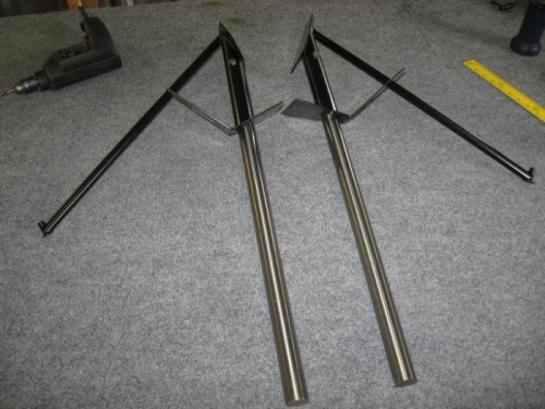 Assembled legs and mounts