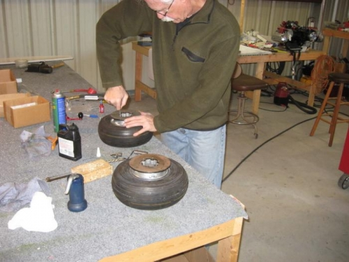 Putting wheels together and mounting tires