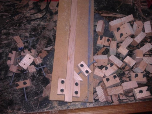blocks made out of 2x4 scraps and left over screws