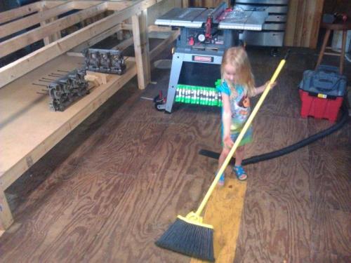 My daughter Addison helping