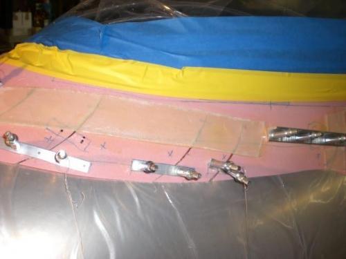 Fiberglass pieces added