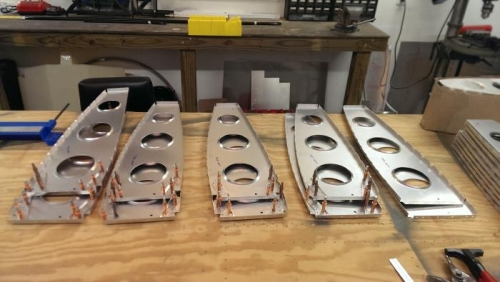 Aft Ribs Drilled and Cutouts Made