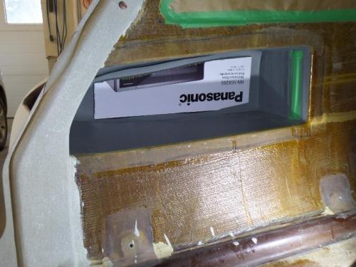 Cardboard to help hold vinyl.