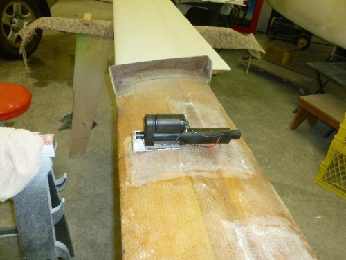 Elevator trim base cut to fit