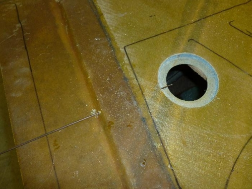 Hole was cut and ready for cap