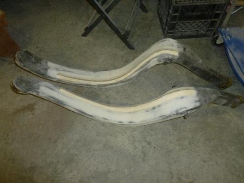 Gear legs sanded