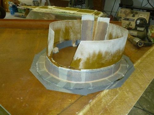 Peel-ply on flange.