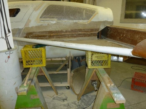 Strake cut to fit fuselage