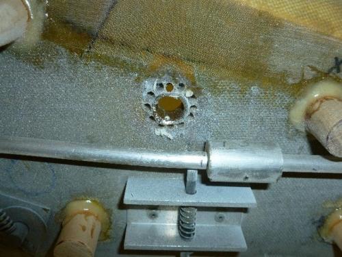 Drilled around lock