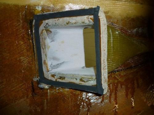 Foam inplace for heater