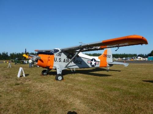 Restored military plane