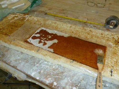 Heat gun flows out resin