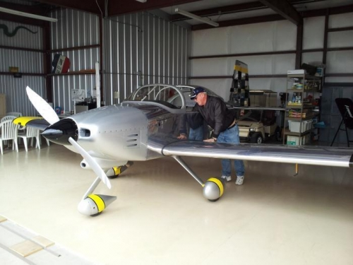 Here is Jim Thorne, and his beautiful RV-7A