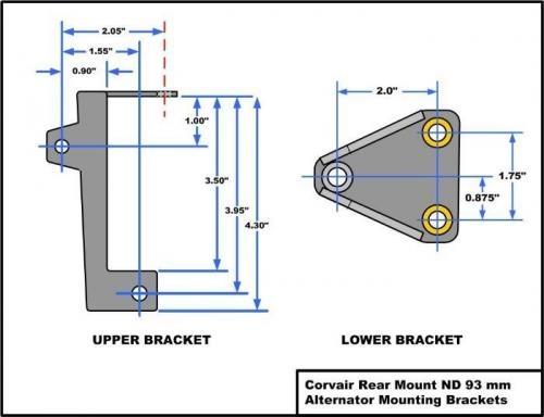 Lower Alternator Attach Bracket
