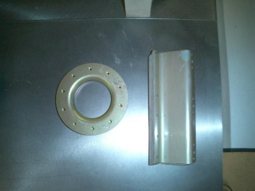 Fuel cap flange and z brackets