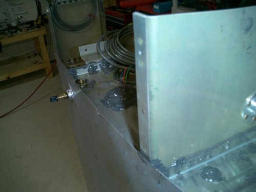 Left tank leak sealed